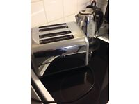 STAINLESS STEEL KETTLE AND TOASTER
