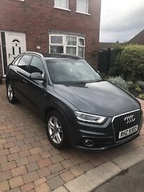 Audi Q3 TDI S-Line with 19Alloys and Rear Privacy Glass 5dr