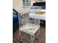Parrot/Big Bird cage, rolling stand
