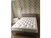 Habitat FREDD grey upholstered king size 150 cm, less than 12 mth old + mattress