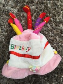 Happy Birthday hat for Toddlers, great fun. £2 can post or collect from Torquay.