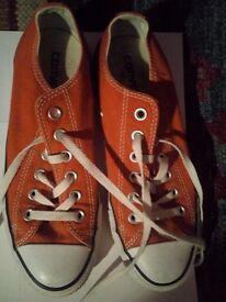 Women orange Converse trainers for sale