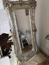 A stunning ornate Wall mirror - Amazing features - can be verticle or horizontal - 6ft wide