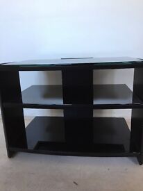 Black tv stand as new