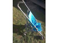 Mamas & Papas blue summer stroller / pushchair just £15