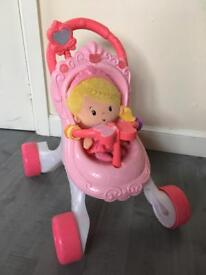 Fisher price doll and buggy