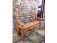 Rustic Oak Garden Seat / Bench