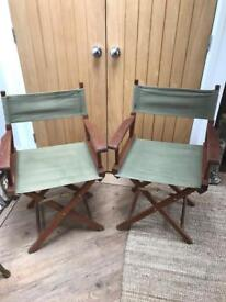 Lovely Pair of Garden Director Chairs