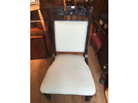 Parlour chair , just been re-upholstered . Must been seen. Free local delivery.