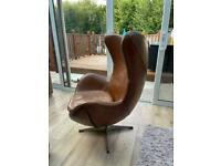 Office/Games room/ lounge leather egg chair