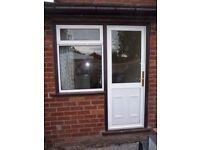 External aluminium door & window(s) in hardwood frame