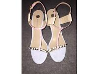River Island block heel size 7 strappy sandals