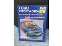 FORD ESCORT and ORION Haynes Service and Repair Manual