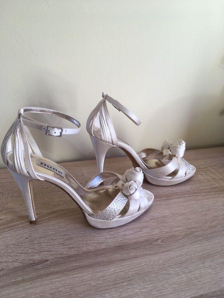 c2323b959 Dune Ivory satin bridal   evening sandals size 37
