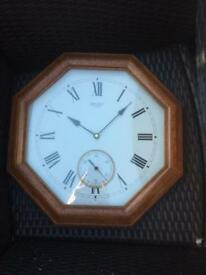 Seiko Solid Wooden Clock