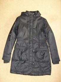 New Other - M&S Girls Black Long Winter Coat age 13 to 14 years – no labels