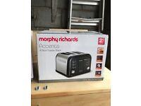 Morphy Richards Toaster - 4 slice in black