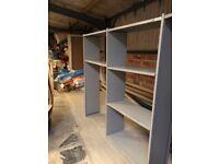 Metal storage shelving
