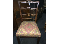 Attractive Antique Mahogany Ribbon Back Chippendale Style Desk/Side Chair