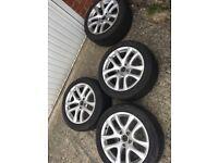 "4x Genuine 17"" VW Donnington Alloy Wheels 5x112"