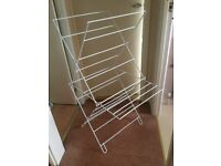 White coated Clothes Airer, ideal for student
