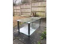 2 Glass Coffee Tables, Set of 2 tables Small Table, TV table, TV stand