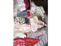 Large bundle of girls 3-6 month clothes