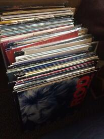 """105 vynyl albums and 12"""" records"""