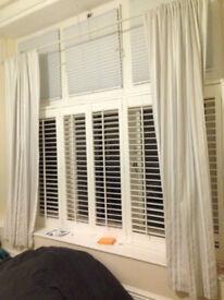 Drape curtains - light blue, cream and white stripes