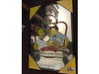 Simpson's mirror display moe's bar