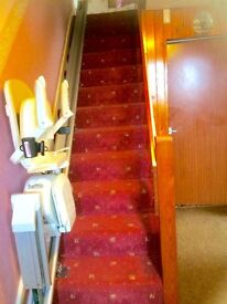 Electric Stairlift, Acorn Superglide only 7 months old fixed on left of 13 stairs