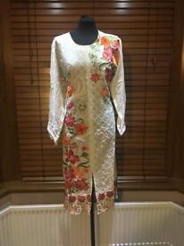 Cream linen suit
