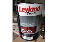 LEYLAND TRADE HEAVY DUTY NIMBUS GREY FLOOR & TILE PAINT - 5 LITRES