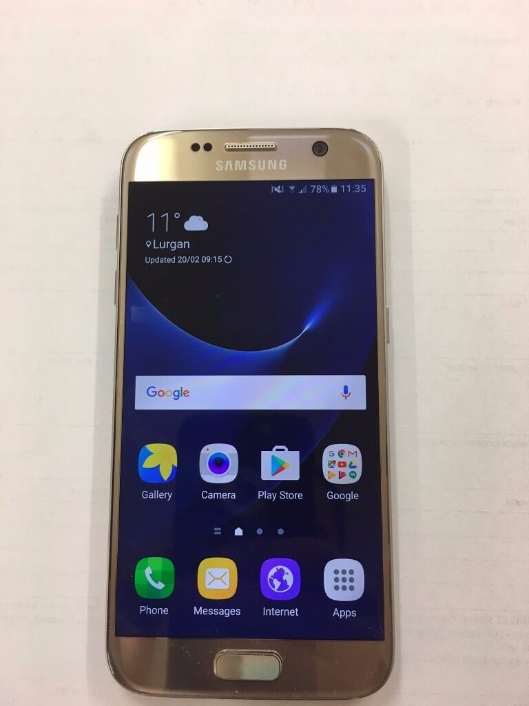 Samsung galaxy s7 Unlocked Excellent Condition no swapsin Craigavon, County ArmaghGumtree - Samsung galaxy s7 Unlocked Excellent Condition Gold colour 16GB internal memory Factory unlocked Good condition includes cover and charger