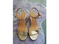Women's Gold Sandals size 5