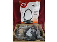 Indoor TV aerial: One For All SV9151 Amplified 45dB UHF/VHF/FM Indoor Antenna
