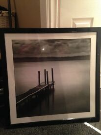 Black and white image in black frame dunelm