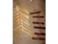 Clothes hangers, solid wood, great condition