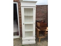 French White Shabby Chic Bookcase Display Cabinet