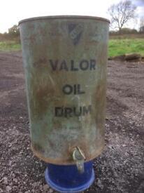 Old valor oil drum
