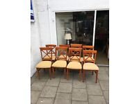 Kitchen table and eight chairs