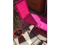 Pink sun lounger