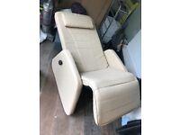 Beige reclining armchair