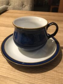 Brand New Denby Imperial Blue 6 Piece Tea Set