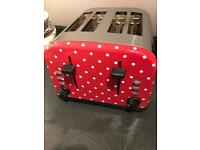 Red Spotty 4 slice toaster