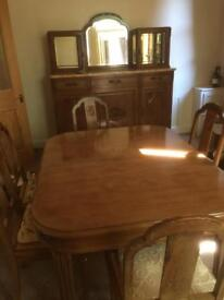 Dinning room set table and sideboard