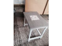 Bespoke, hand painted shabby chic small table