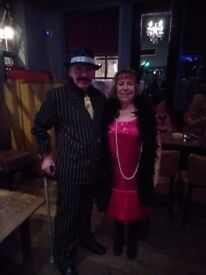 Gangster and moll, costumes.