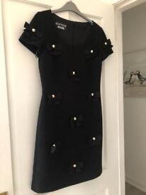 Moschino Boutique Black Studded Dress Size 10 Brand New with tags