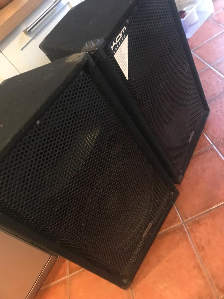 KAM 300watt 15inch sub with amp PA speakers